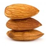 Almond isolated — Stock Photo
