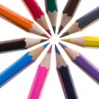 Pencils isolated — Stock Photo