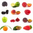 Collection fruits — Stock Photo