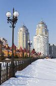 Kyiv in winter — Stock Photo