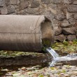 Stock Photo: Sewage pipe
