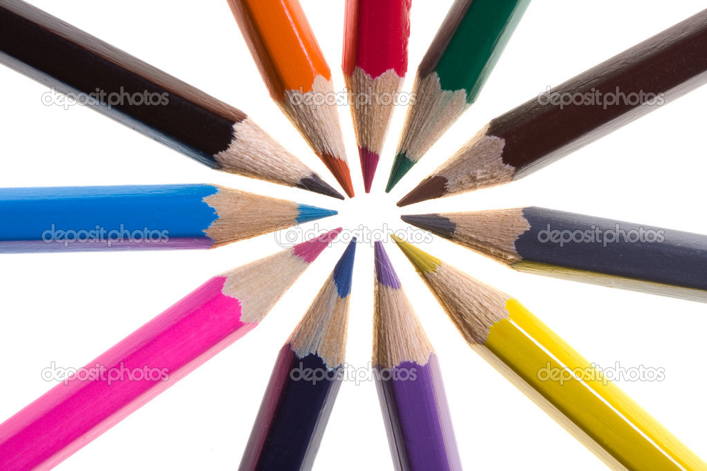 Color pencils isolated on the white — Stock Photo #8412841