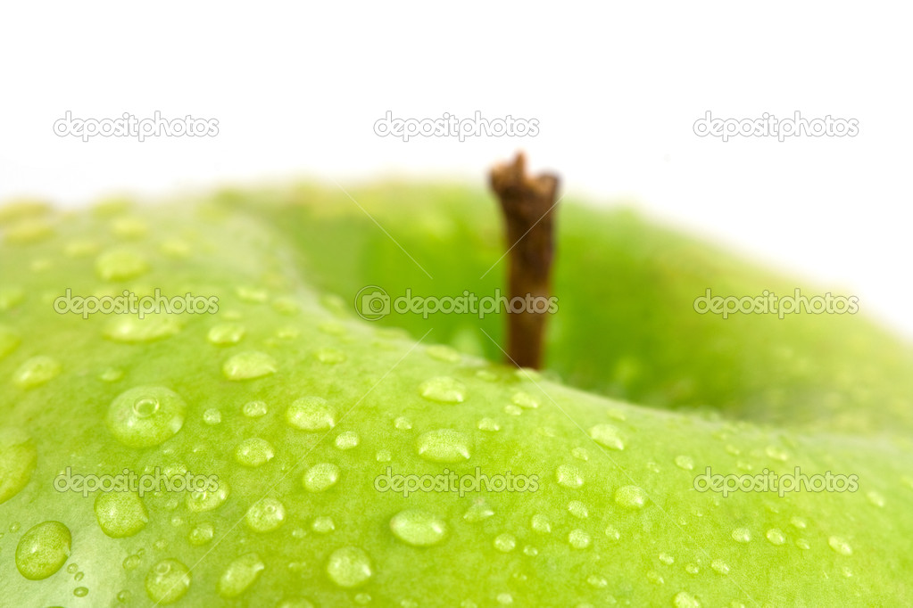 Apple with drop water isolated on white — Stock Photo #8413003