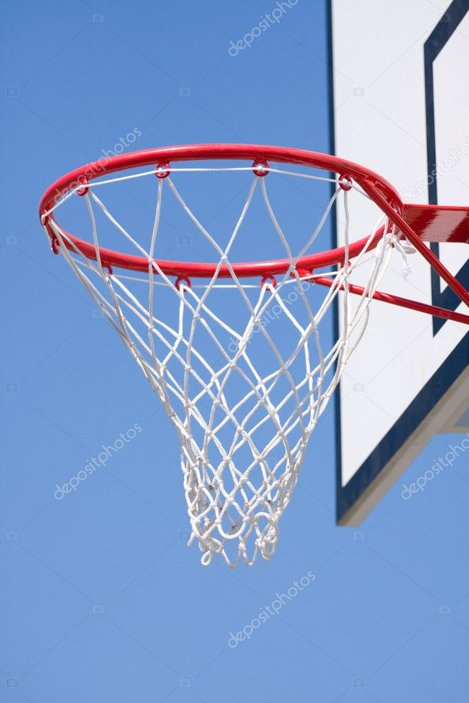 Basketball hoop over a blue sky  Stock Photo #8413191