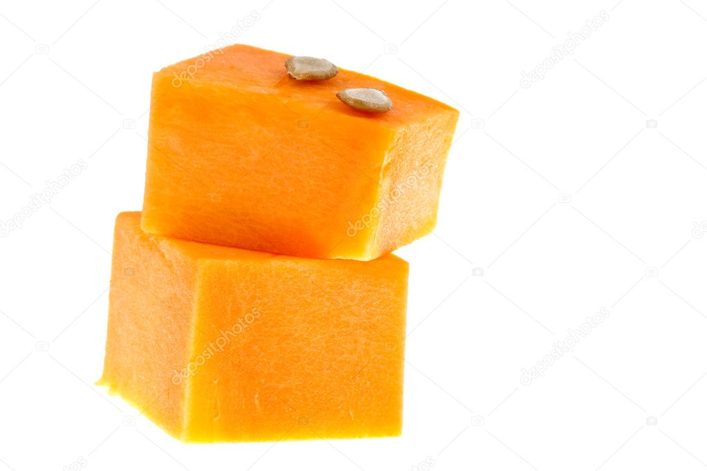 Pumpkin isolated on white — Stock Photo #8413435