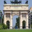 Arco della Pace in Milan . — Stock Photo