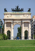Arco della Pace in Milan . — Stock Photo