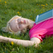 Stock Photo: Girl on the grass