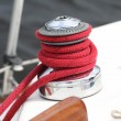 Winch of a sailboat - Foto Stock