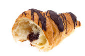 Chocolate croissant isolated — Stock Photo