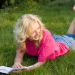 Girl reads  book — Stock Photo #8990178