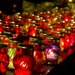Burning candles lamps — Stock Photo #9004054