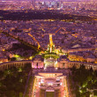 图库照片: Paris at night