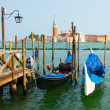 Gondolas in Venice . — Stock Photo