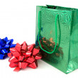 Royalty-Free Stock Photo: Green package and two bows