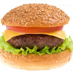 Cheeseburger isolated — Stock Photo #9349668
