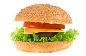 Cheeseburger isolated — Stock Photo