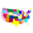 Map of America — Stock Vector