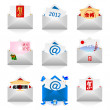 Stock Vector: Various e-mail icon