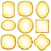 Gold frame — ストックベクタ