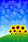 Sunflower Summer Greeting — Stock Vector