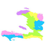 Haiti map — Stock Vector