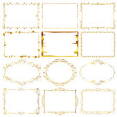 Guld ram — Stockvektor