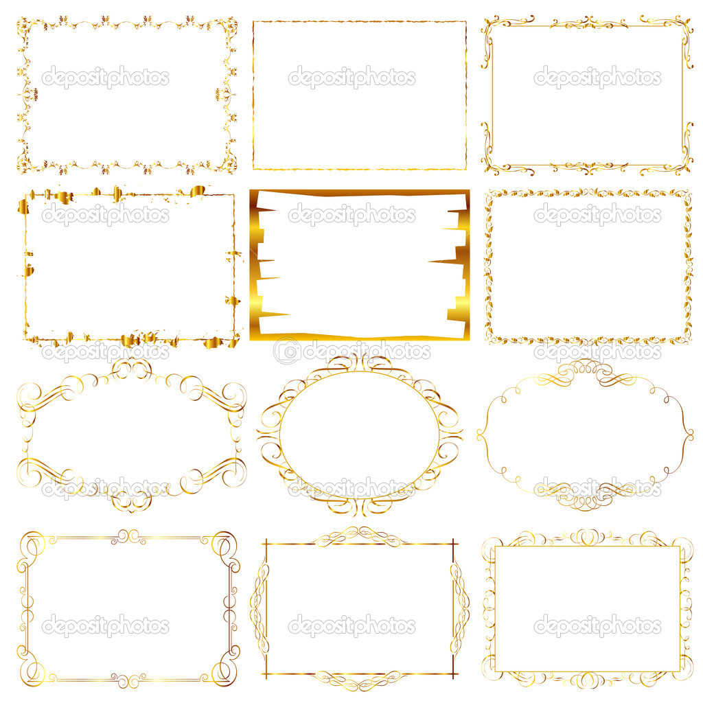 Gold frame — Stock Vector #10476018