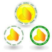 Mango frame — Stock Vector