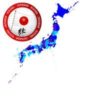Japan map — Cтоковый вектор