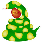 Snakes and 2013 — Stock Vector