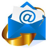 Mark e-mail at — Stock Vector