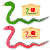 Snake and Emma — Stock Vector