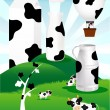 Illustration of cow milk - Stock Vector