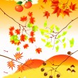 Stock Vector: Autumn material