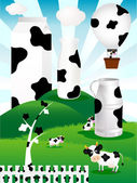 Illustration of cow milk — Stock Vector