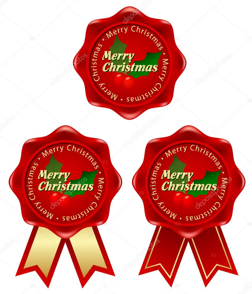 Christmas frame with holly clipart images — Stock Vector #7986399