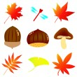 Autumn material — Stock Vector