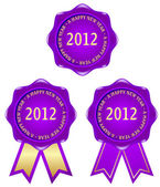 Purple frame 2012 — Stock Vector