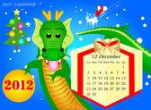 December 2012 Calendar — Stock Vector