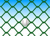 Fences and ball — Stock Vector
