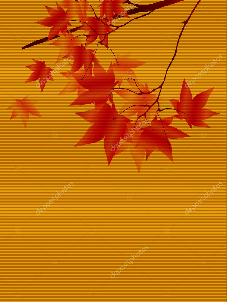 Simple and beautiful backdrop of autumn foliage — Stock Vector #8051294