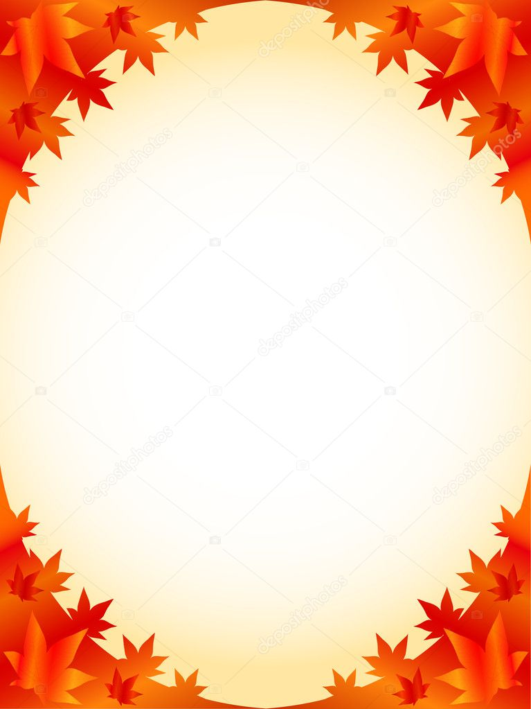 Simple and beautiful backdrop of autumn foliage — Stock Vector #8051314