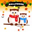 Owl Halloween - Stock Vector