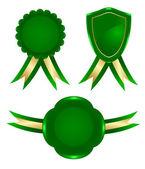 Green frame — Stock Vector