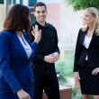 Group of Business Smiling outside — Stock Photo #10395279