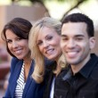 Group of Business Smiling outside — Stock Photo #10395374