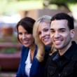 Group of Business Smiling outside — Stock Photo