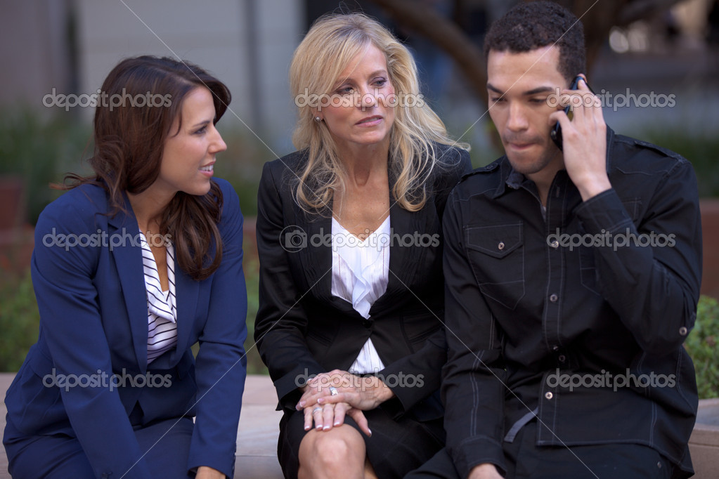 Group of Business waiting for a decision — Stock Photo #10395247