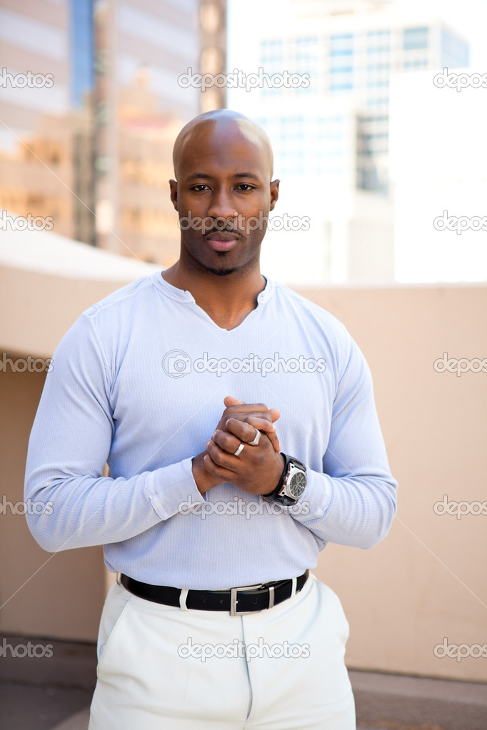 Good Looking young African American Man — Stock Photo #10649390